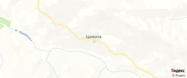 Карта села Цалкиты в Дагестане с улицами и номерами домов