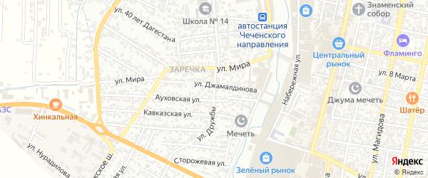 Дружбы 10-й проезд на карте Хасавюрта с номерами домов