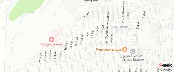 12-я улица на карте Садового поселка с номерами домов