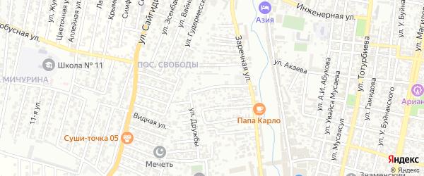 Дружбы 2-й проезд на карте Хасавюрта с номерами домов