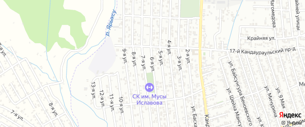 6-я улица на карте поселка Балюрта с номерами домов