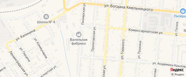 Пролетарская улица на карте Алатыря с номерами домов