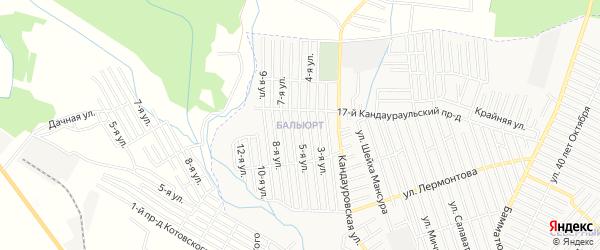 Карта поселка Балюрта города Хасавюрта в Дагестане с улицами и номерами домов