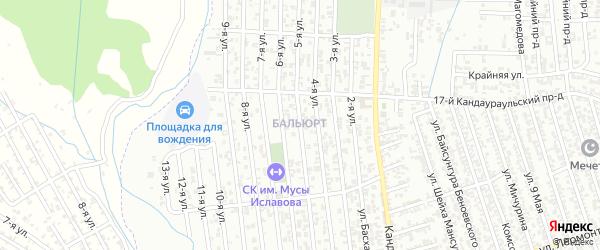 5-я улица на карте поселка Балюрта с номерами домов