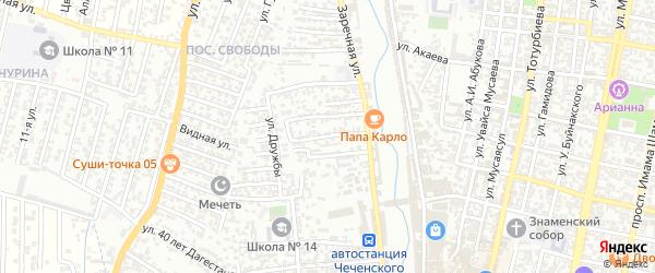 Дружбы 4-й проезд на карте Хасавюрта с номерами домов