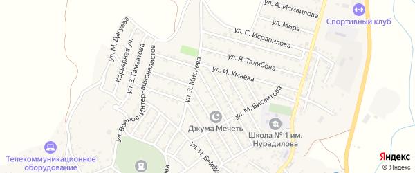 Улица А.Кадырова на карте села Ленинаула с номерами домов