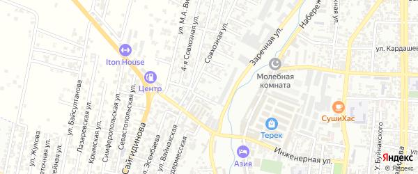 Кандаураульская улица 12-й проезд на карте Хасавюрта с номерами домов