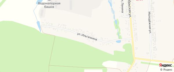Улица Ильгачкина на карте деревни Торханы с номерами домов