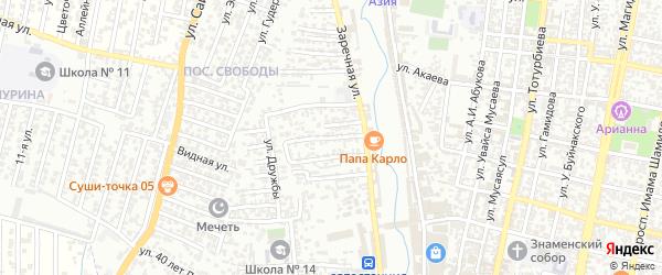 Победы улица 3-й проезд на карте Хасавюрта с номерами домов