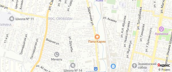 Дружбы 3-й проезд на карте Хасавюрта с номерами домов
