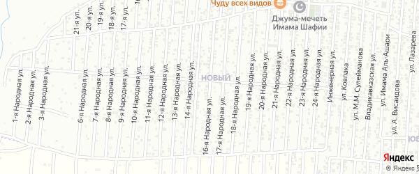 16-я улица на карте Нового поселка с номерами домов