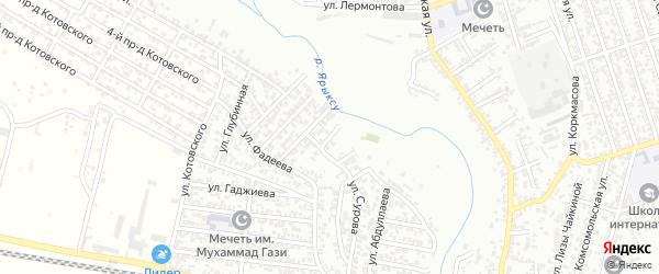 Астемирова улица 1-й проезд на карте Хасавюрта с номерами домов
