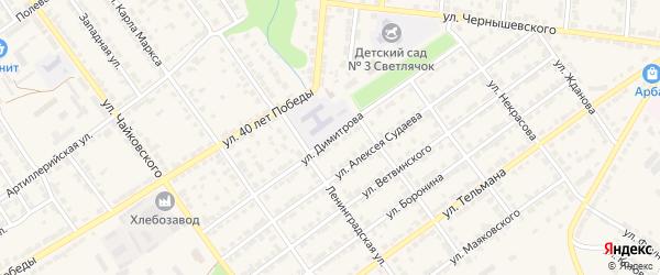 Улица Димитрова на карте Алатыря с номерами домов
