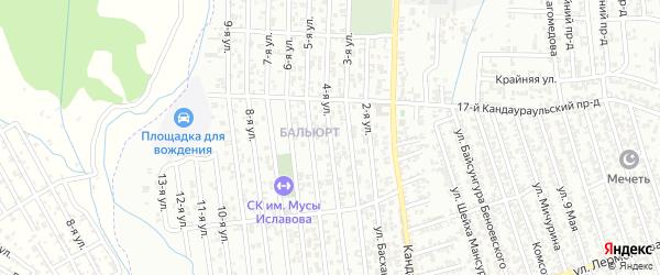 4-я улица на карте поселка Балюрта с номерами домов