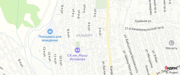 Лермонтова улица 4-й проезд на карте Хасавюрта с номерами домов
