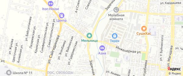 Заречная улица на карте Хасавюрта с номерами домов