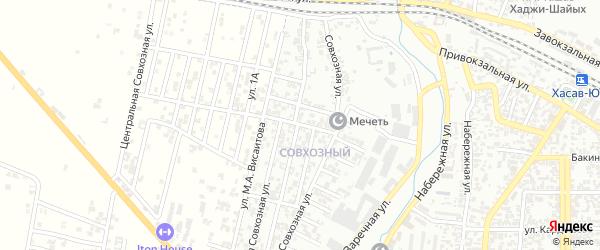 6-я улица на карте поселка Хутора с номерами домов