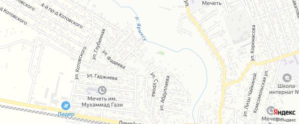 Астемирова улица 2-й проезд на карте Хасавюрта с номерами домов
