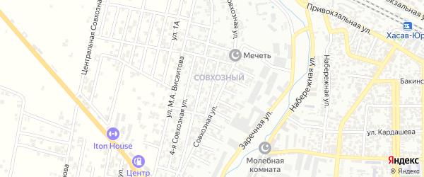 Совхозная улица на карте Хасавюрта с номерами домов