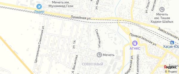 Совхозный переулок на карте Хасавюрта с номерами домов