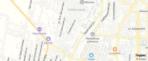 Кандауровский 9-й проезд на карте Хасавюрта с номерами домов