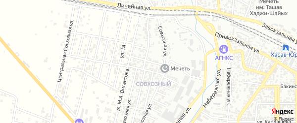 7-я улица на карте Совхозного поселка с номерами домов