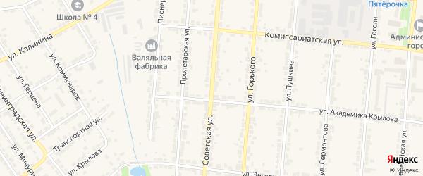 Советская улица на карте Алатыря с номерами домов