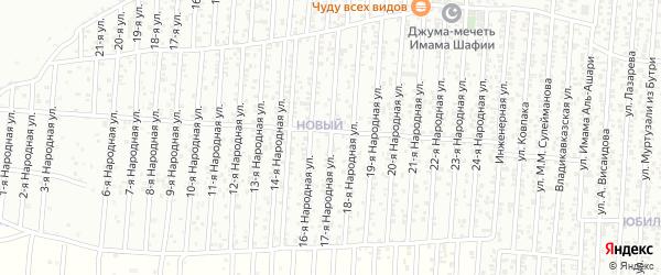 17-я улица на карте Нового поселка с номерами домов