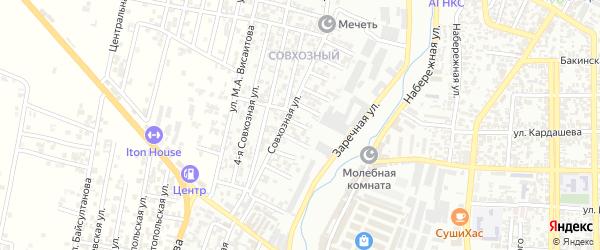 Заречный 8-й проезд на карте Хасавюрта с номерами домов