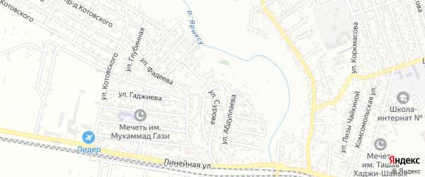 Улица Сатыбалова на карте Хасавюрта с номерами домов