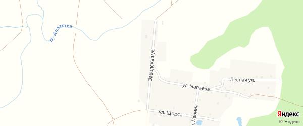 Заводская улица на карте разъезда Пинеры с номерами домов