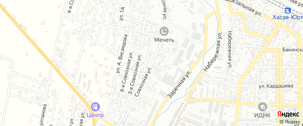 1-я улица на карте поселка Балюрта с номерами домов