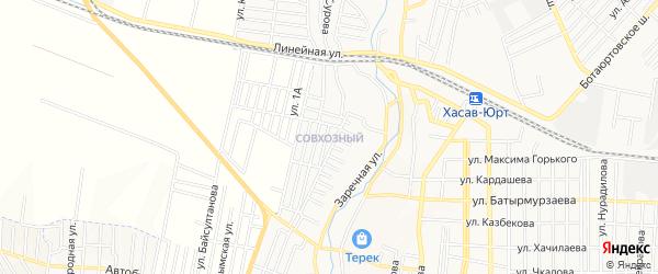Карта поселка Хутора города Хасавюрта в Дагестане с улицами и номерами домов