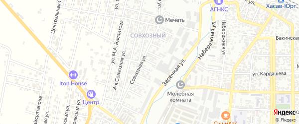 Заречный 7-й проезд на карте Хасавюрта с номерами домов