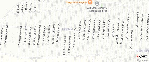 18-я улица на карте Нового поселка с номерами домов