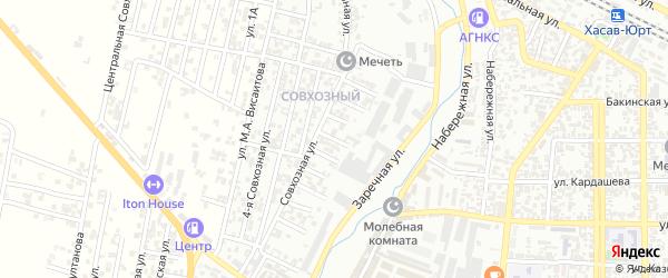 Кандауровский 6-й проезд на карте Хасавюрта с номерами домов