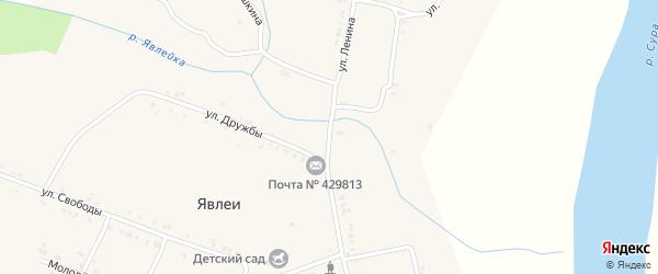 Улица Ленина на карте села Явлеи с номерами домов
