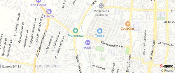 Инженерная улица на карте Хасавюрта с номерами домов