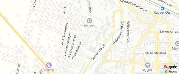 5-я улица на карте поселка Хутора с номерами домов