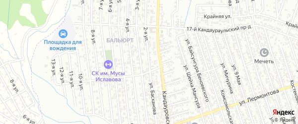 2-я улица на карте поселка Балюрта с номерами домов