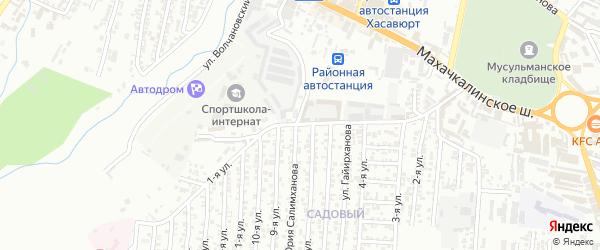 Акташская улица 1-й проезд на карте Хасавюрта с номерами домов