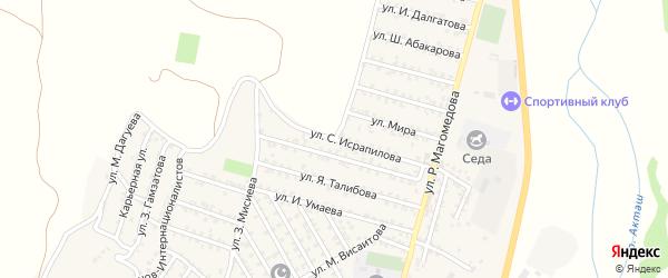 25-я линия на карте микрорайона Кемпинга с номерами домов
