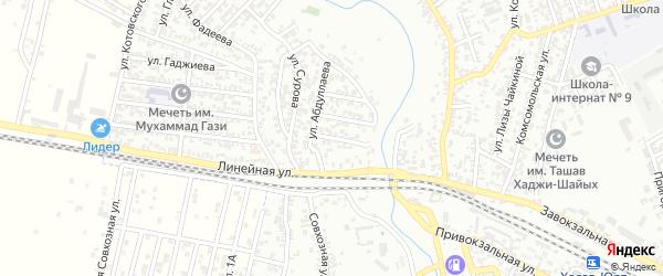 Улица Капиева на карте Хасавюрта с номерами домов