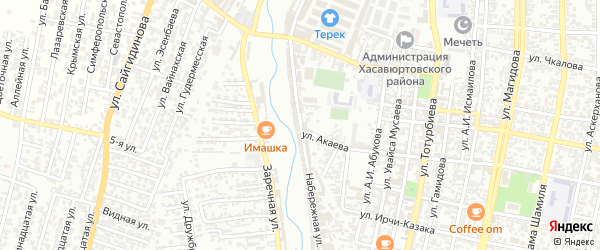 Набережная улица на карте Хасавюрта с номерами домов