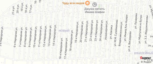 19-я улица на карте Нового поселка с номерами домов