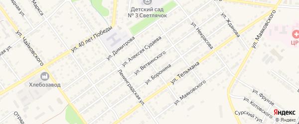 Улица Ветвинского на карте Алатыря с номерами домов