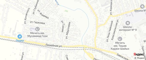 Улица Саидова на карте Хасавюрта с номерами домов