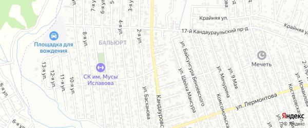 Кандауровская улица на карте Хасавюрта с номерами домов