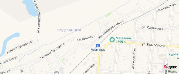 Горный переулок на карте Алатыря с номерами домов