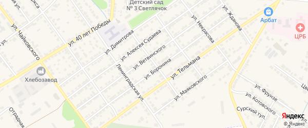 Улица Толстого на карте Алатыря с номерами домов